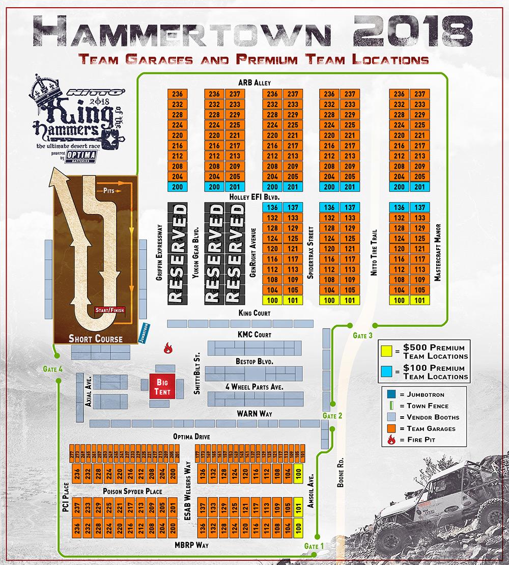 Hammertown 2018 Driver Address Map | Ultra4 Racing on
