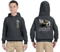 2017 King of the Hammers Kids Hoodie - Gray Ultra4 Racing KOH