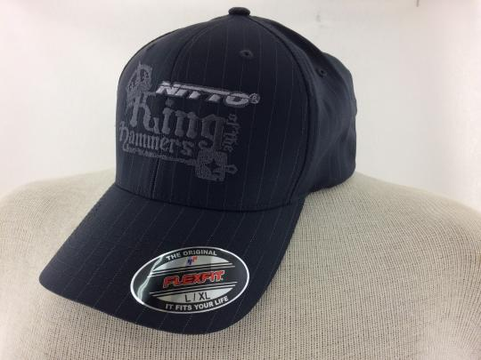 Men s King of the Hammers Gray Pinstripe Flexfit Hat  c6749a805b2
